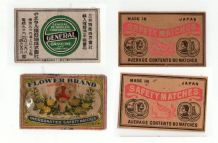 Rare match box labels CHINA or JAPAN patriotic  #327
